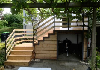 Außentreppe Holz