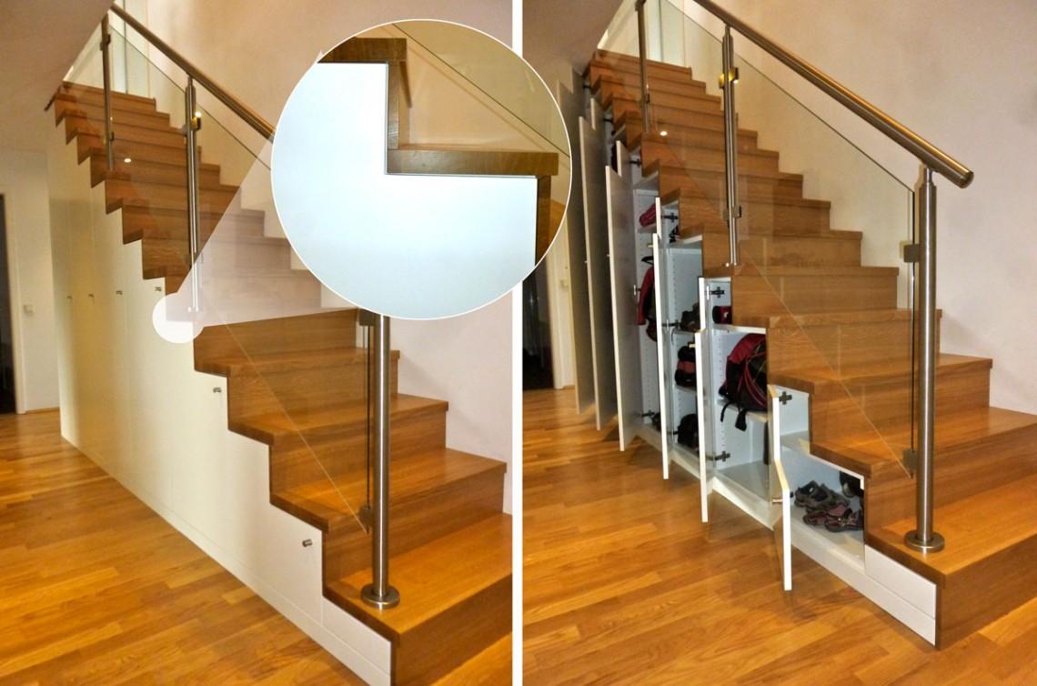 Treppe als Einbauschrank