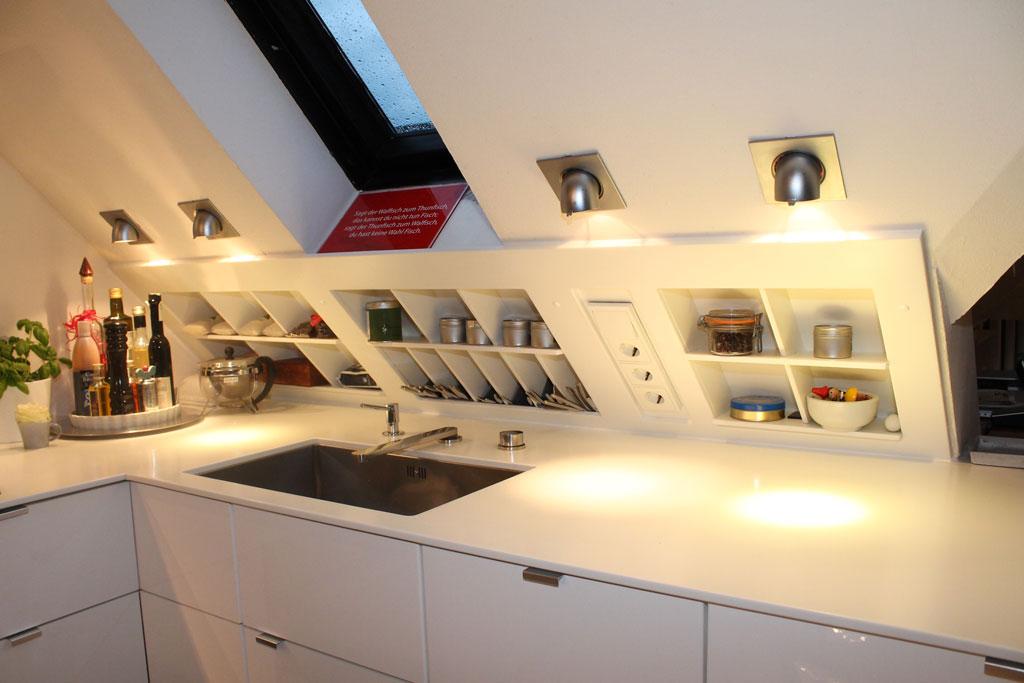 Küche Dachschräge - Schreinerei Feltes und Munkel